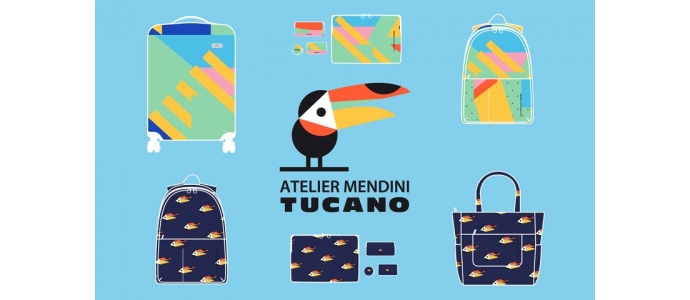 Tucano Shake, the collection of bags, backpacks and travel accessories with graphics by Alessandro Mendini