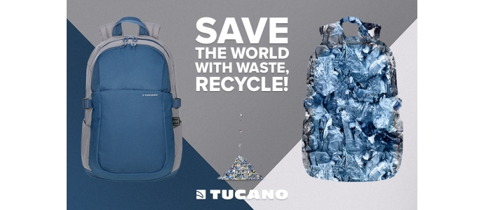 Backpacks and bags in recycled plastic, Tucano's new challenge for a sustainable future